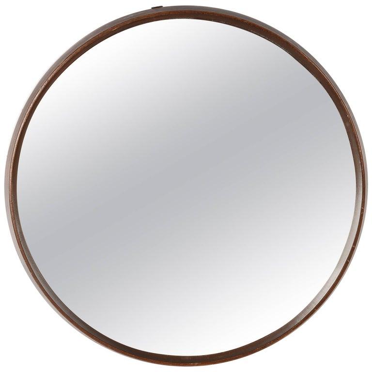 Scandinavian Circular Wall Mirror Style Östen Kristiansson, 1960s
