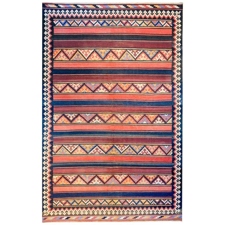 Beautiful Early 20th Century Zarand Kilim Rug