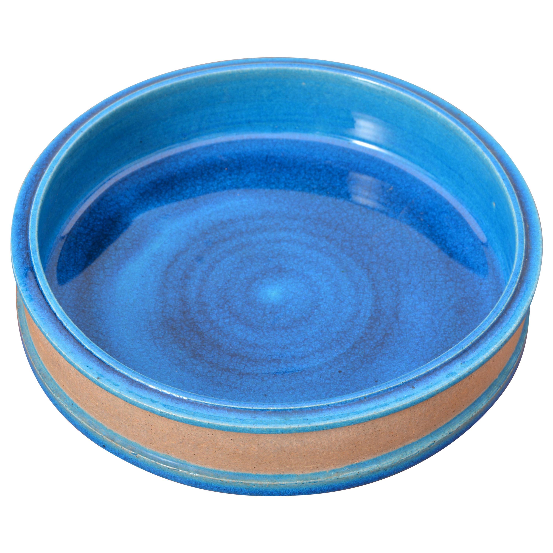 Danish Mid-Century Modern turquoise Ceramic bowl by Nils Kähler