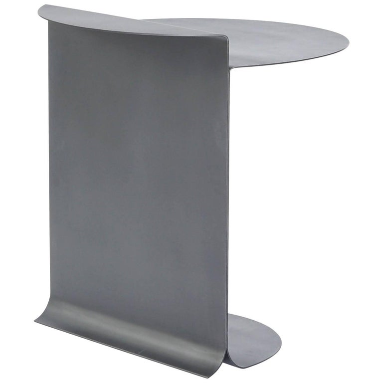 'New' O Table in Blackened Stainless Steel by Estudio Persona