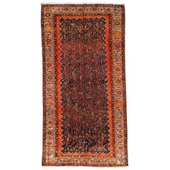 Antique Indigo Blue Persian Farahan Rug with All-Over Paisley Pattern