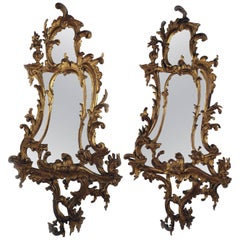 Pair of George III Style Giltwood Mirrors