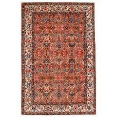 Vintage All-Over Design Persian Tabriz Rug