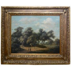 Mid-19th Century Landscape Oil on Wood Trees in the Woods by John Kensett