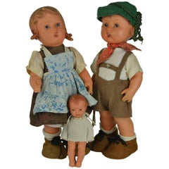 M.J. Hümmel Goebel Rubber Dolls with Labels, Western Germany