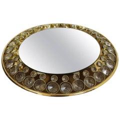 Brass and Glass Illuminated Mirror from Palwa, 1960s