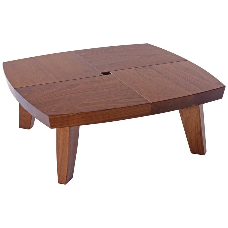 Angela Adams Sea Turtle Coffee Table Walnut Solid Wood - Angela coffee table