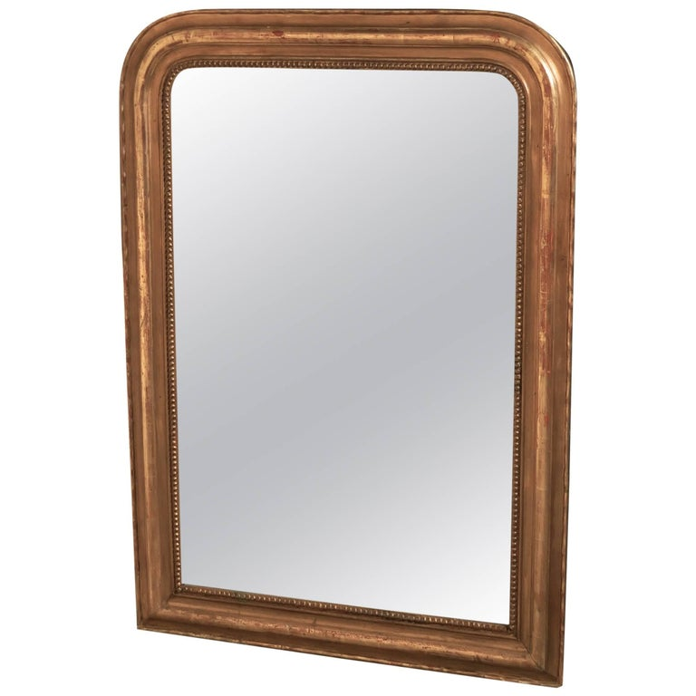 French, 19th Century Louis Philippe Gold Mirror