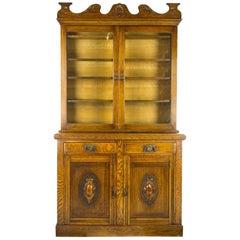 Antique Sideboard, Art Nouveau Buffet, Vintage Bookcase, Scotland, 1900
