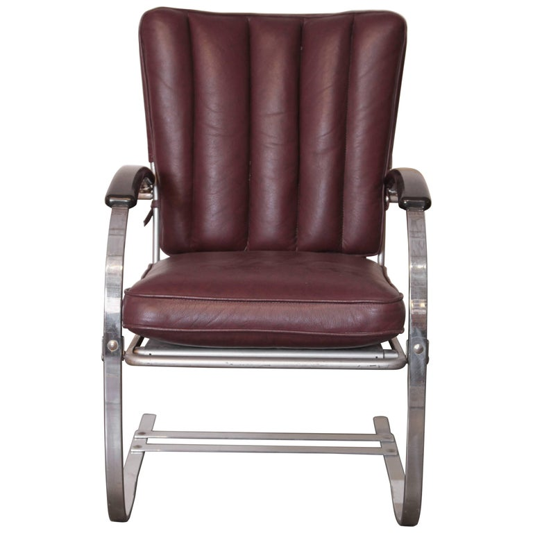 Art Deco Machine Age Wolfgang Hoffmann for Howell Cantilever Springer Chair