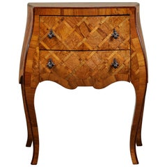 20th Century Petite Italian Marquetry Chest of Drawers