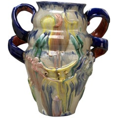 Austrian Ceramics Vase Expressionist Style by Vally Wieselthier Vienna