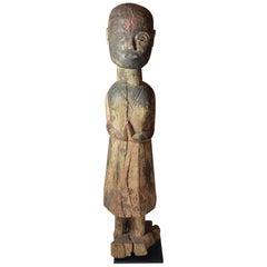 Fine Antique Nepal Himalaya Tribal Tharu  Figure