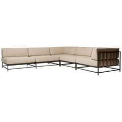 Outdoor Cream and Charcoal Sectional