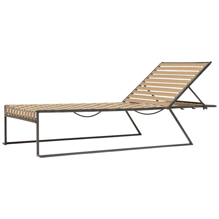 Outdoor Tan and Charcoal Pool Chaise