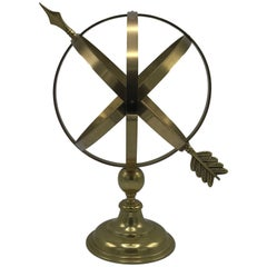 1950s Brass Armillary Sculpture