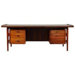 Arne Vodder Rosewood Extra Large Midcentury Danish Desk