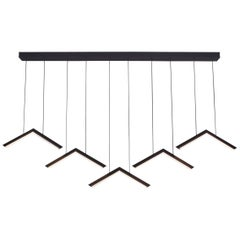 ALPINE V - Black Geometric Modern LED Linear Chandelier Light Fixture