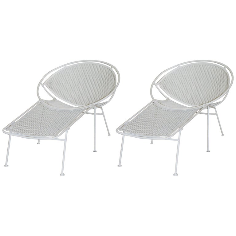 Pair of Loungers with Detachable Foot Rests by Maurizio Tempestini for Salterini