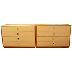 Mid-Century Modern Jack Cartwright for Founders Pair Maple Dressers, 1960s