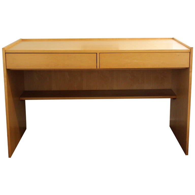 Mid-Century Modern Jack Cartwright for Founders Maple Desk Two-Drawer, 1960s