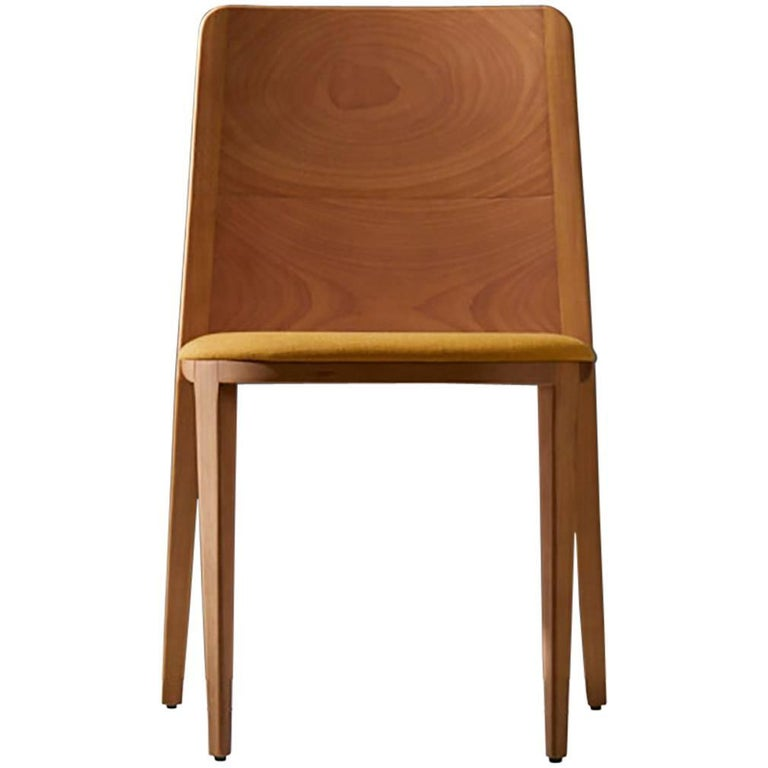 Minimal style, solid wood chair, textiles or leather seatings
