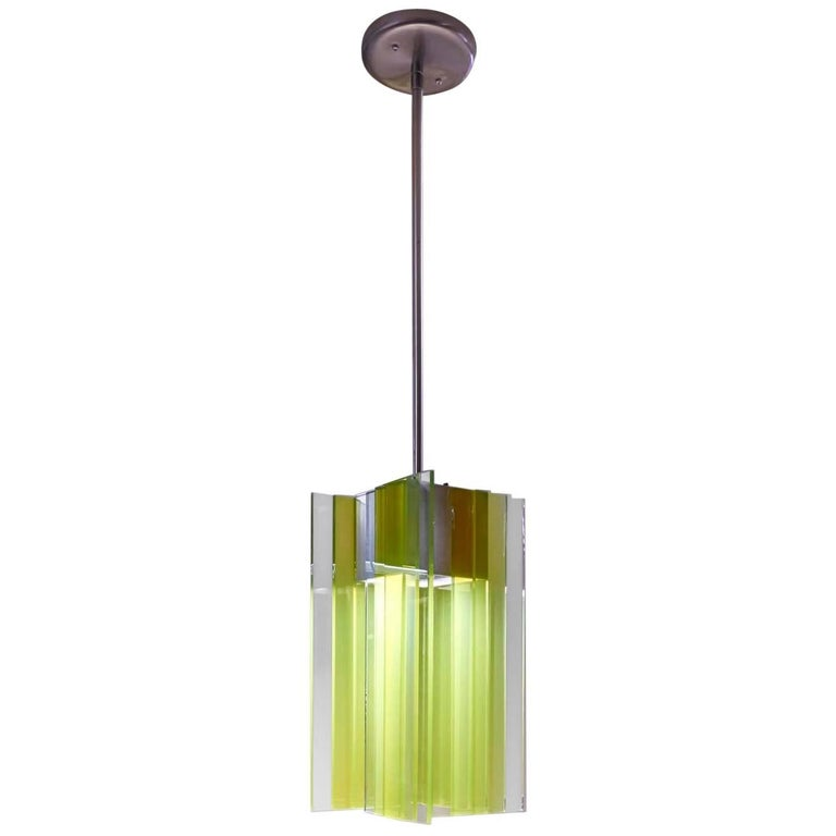 Glass and Aluminium Contemporary LED Light Pendant