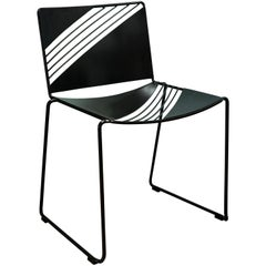 Wire, Sheet Metal, Powder Coated, Cafe Chair