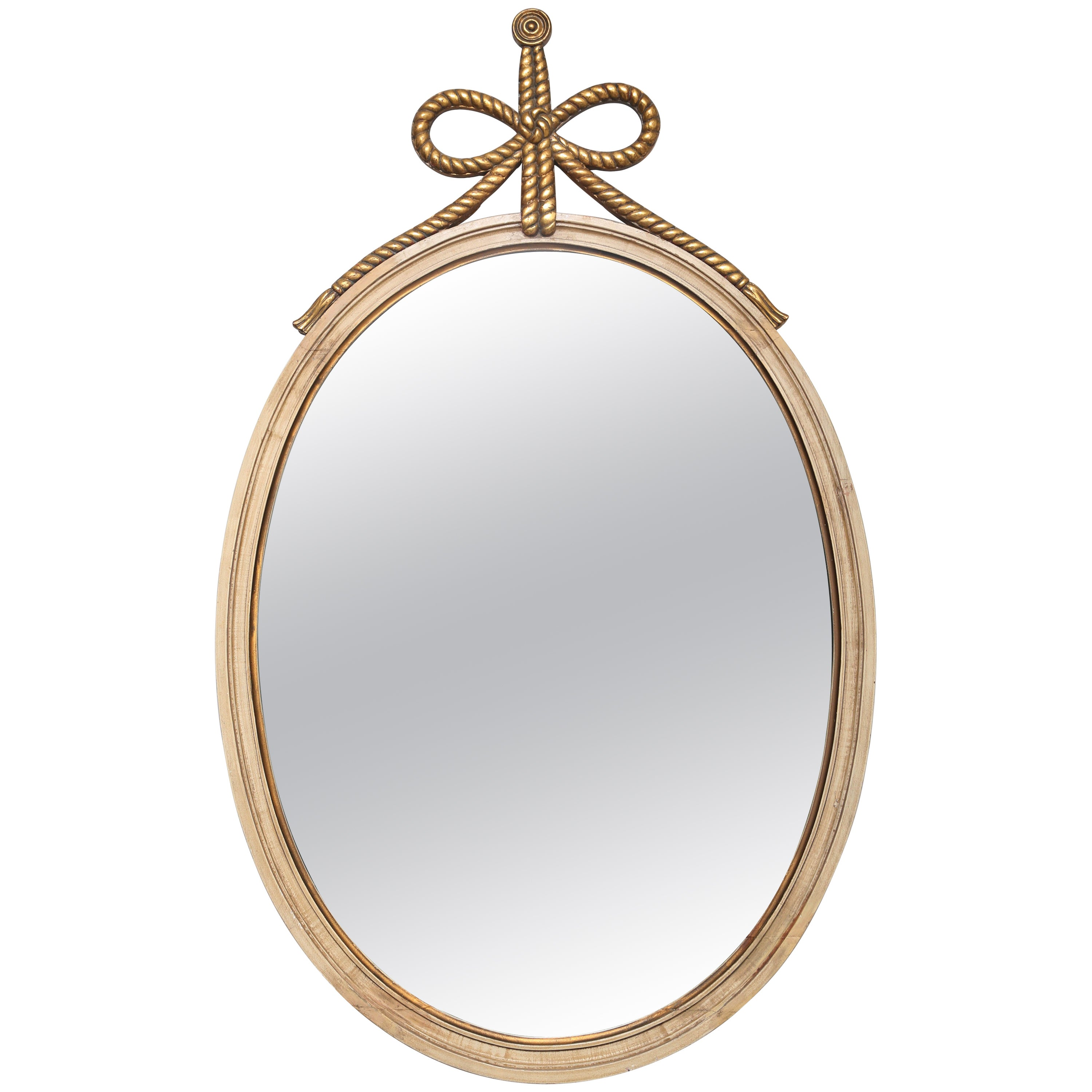 Italian Carved and Gilded Oval Mirror