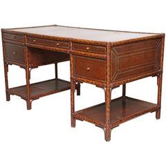 Faux Tortoise Bamboo Desk by Maitland-Smith