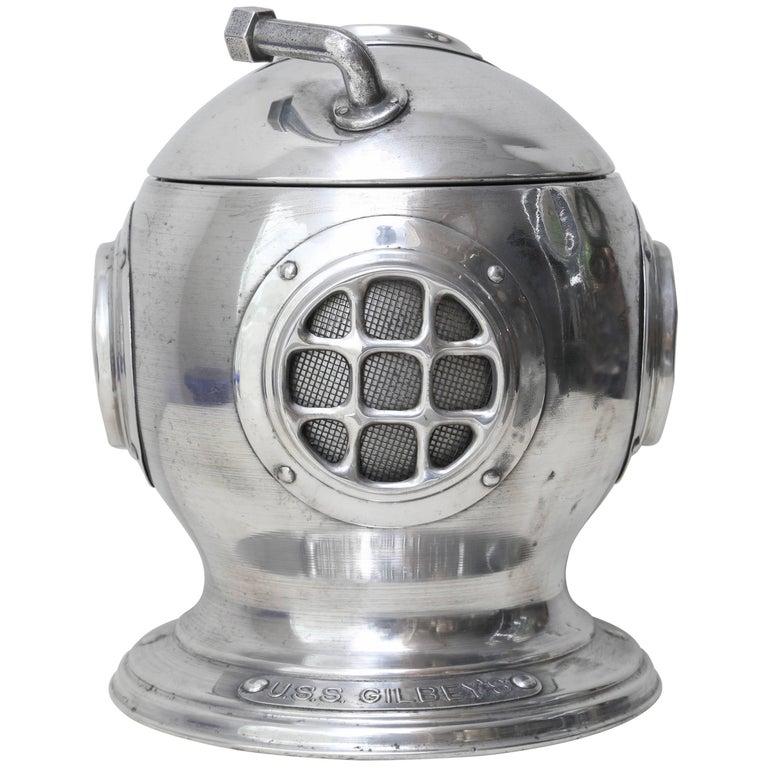 Vintage Diver's Helmet Ice Bucket For Sale