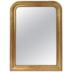 Louis Philippe Arch Top Gilt Mirror (H 42 3/4 x W 32)