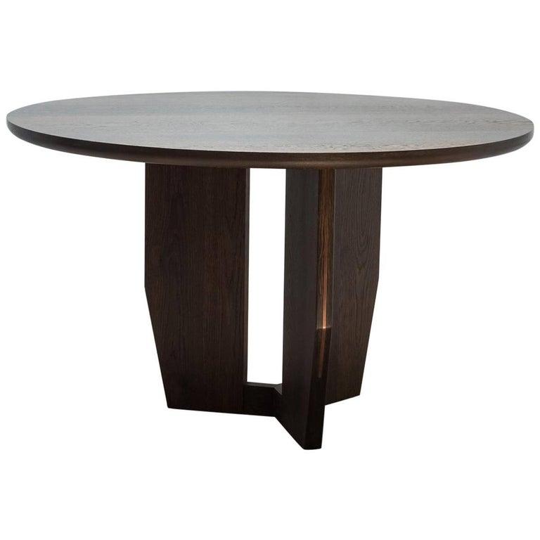 Black Asymmetrical Dining Room Table