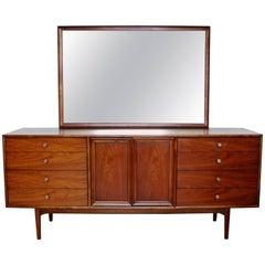 Mid-Century Modern Kipp Stewart Drexel Declaration Walnut Dresser Credenza
