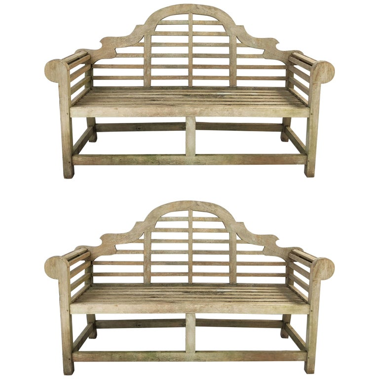 Lutyens Style Garden Bench Seats of Teak from England 'Individually Priced'