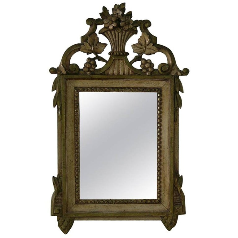 Small 19th Century French Louis XVI Style Mirror For Sale