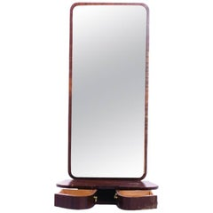 Interesting Hall Mirror with Small Drawers from Sweden, 1960s