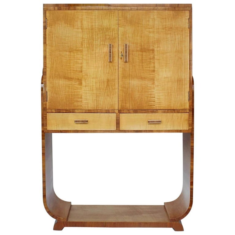 Art Deco Cocktail Cabinet For Sale