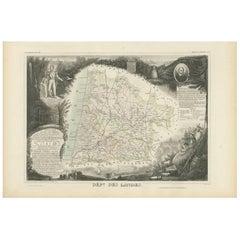 Antique Map of Landes 'France' by V. Levasseur, 1854