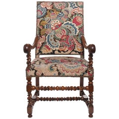 Good Walnut Needlepoint Louis XVII Armchair