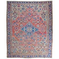 Antique Heriz Carpet 'Mina-Khani' Design