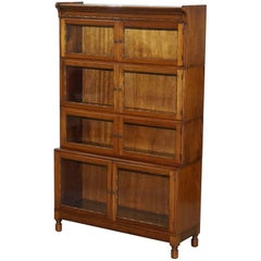 Mahogany Modular Minty Oxford Antique Stacking Legal Bookcase Bobbin, circa 1930