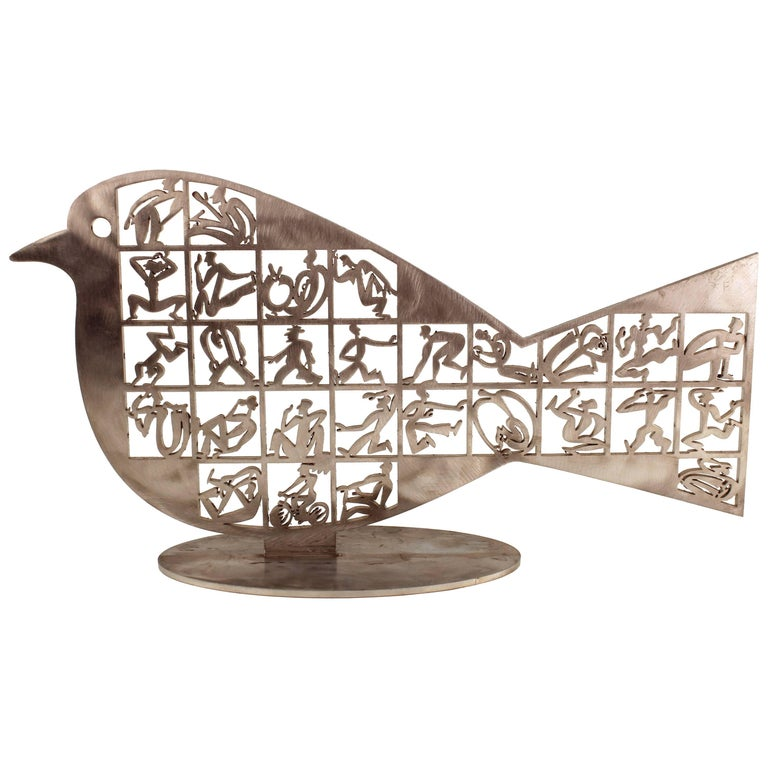 David Gerstein 'Soul Bird' Modern Metal Sculpture