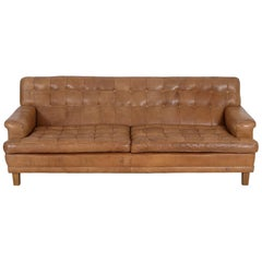 Arne Norell Leather Merkur Sofa, Sweden, Norell Mobel, 1970s