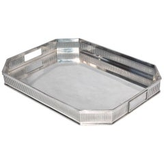 Gallery Silver Plate Tea Serving Tray
