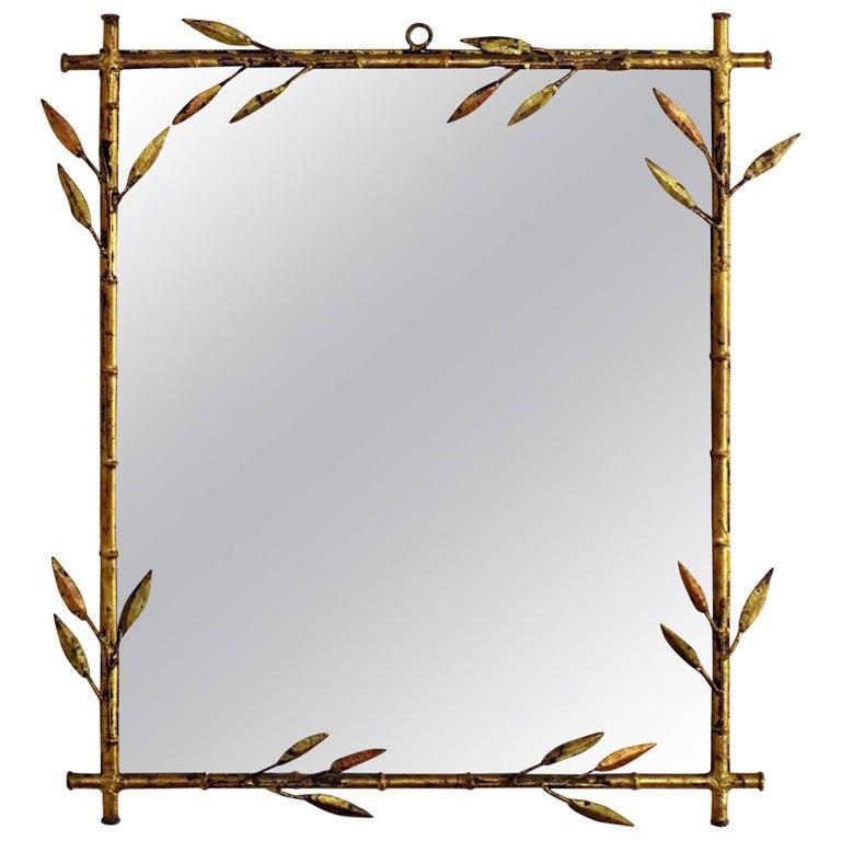 20th Century Hollywood Regency Gilded Metal Mirror