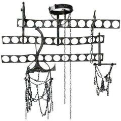 Wall Sculpture by Salvino Marsura, Wrought Iron, 20th Century