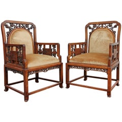 Pair of 19th Century Chinoiserie Chairs by Gabriel Viardot