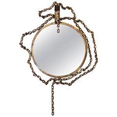 Mirror by Salvino Marsura, Wrought Iron, 20th Century