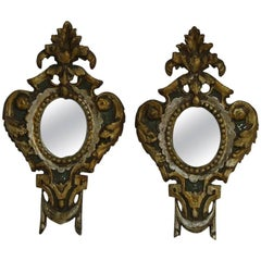 Pair of Late 18th Century, Small Italian Neoclassical Mirrors